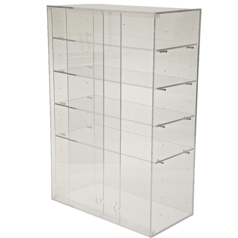 CrazyGadget/® con ante scorrevoli e ripiani regolabili grande vetrina trasparente in plastica acrilica