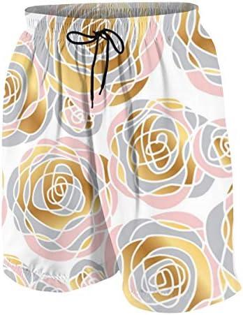 キッズ ビーチパンツ バラの花柄 サーフパンツ 海パン 水着 海水パンツ ショートパンツ サーフトランクス スポーツパンツ ジュニア 半ズボン ファッション 人気 おしゃれ 子供 青少年 ボーイズ 水陸両用