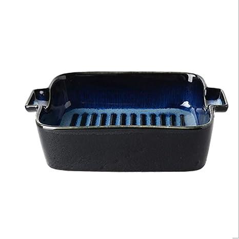 Amazon.com: Bandeja de horno de cerámica de doble mango para ...