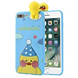 For IPhone 7 4.7 Inch/Plus 5.5 Inch Case Sinfu Cartoon Animal Bears Soft Silicone Protective Cover (IPhone 7 Plus 5.5 Inch, C)