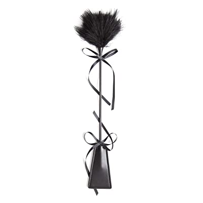 Bbshoping Comfort Soft Feather Tickler Leather Paddles Sport Whip Naughty Party Fancy Dress Toy: Toys & Games