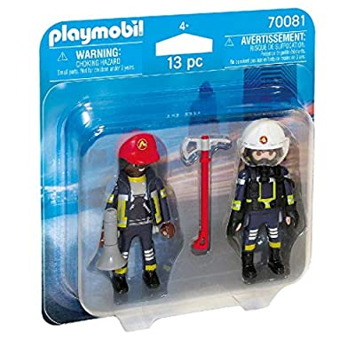 PLAYMOBIL 70081 Duo Pack Fireman and Woman Colourful: Toys & Games