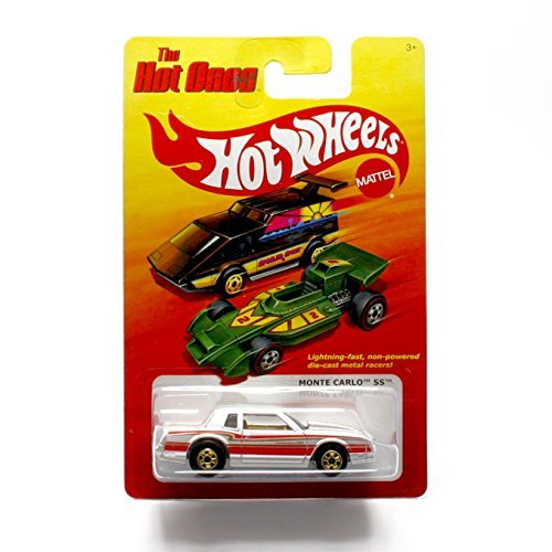 MONTE CARLO SS (WHITE) * The Hot Ones * 2011 Release of the 80's Classic Series - 1:64 Scale Throw Back HOT WHEELS Die-Cast Vehicle