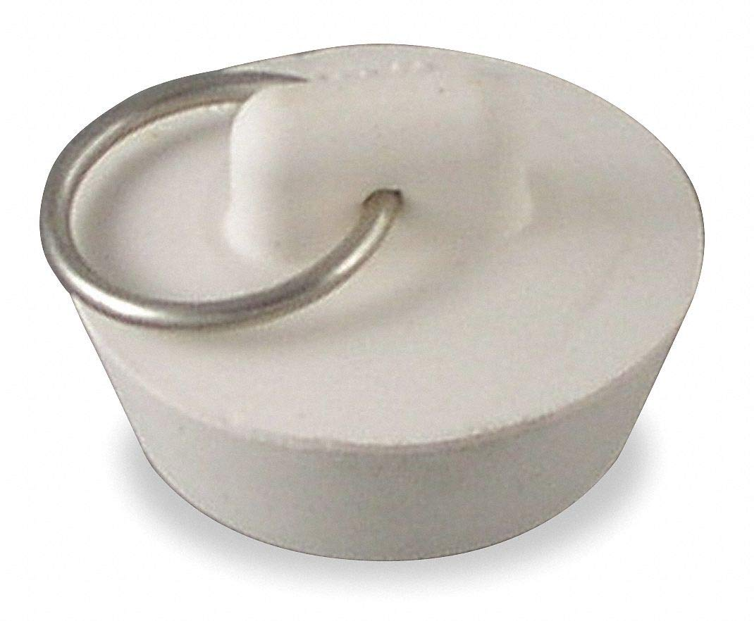 Rubber Stopper, 1-1/8'' to 1-1/4'' Dia, White- Pack of 5 by Unknown