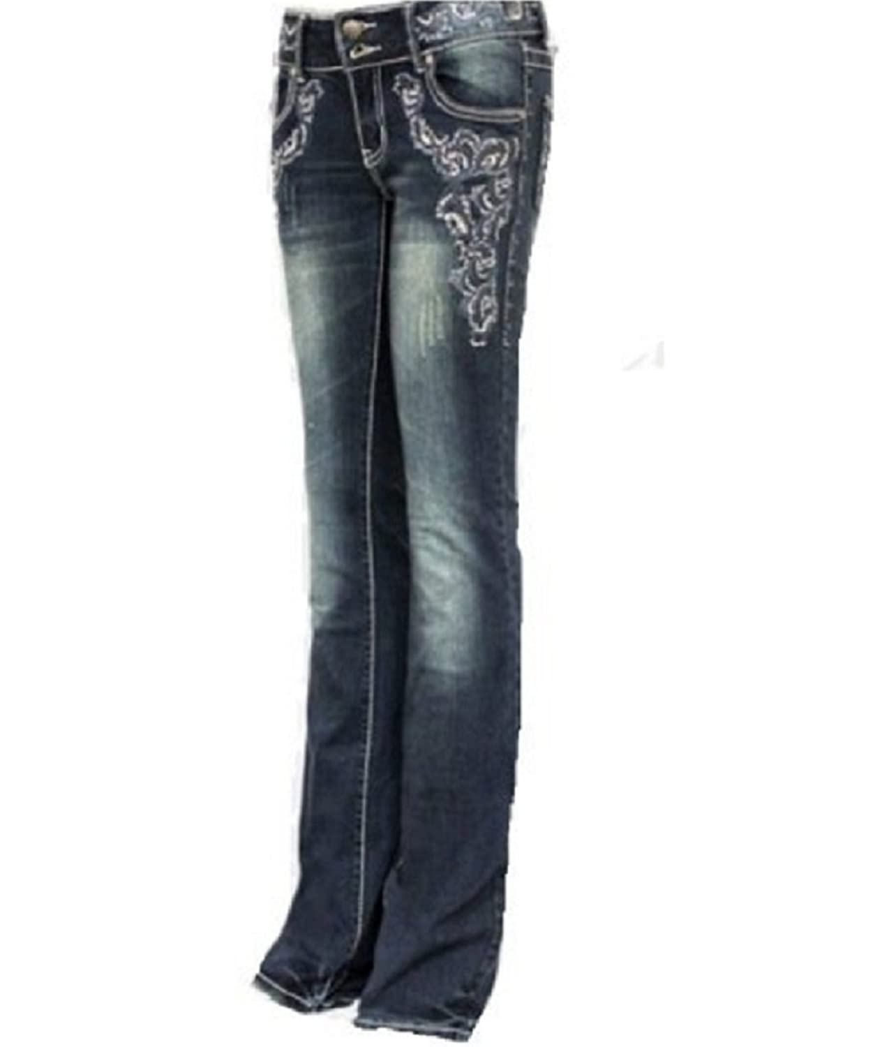 Montana West TR007 Western Embroidered Jeans Size 11