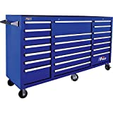Homak H2PRO BL04021720 72-Inch  Series 21 Drawer Rolling Cabinet, Blue