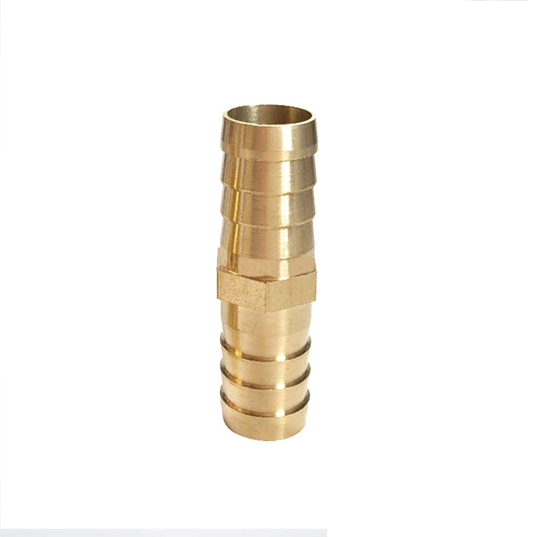 Quickun Hose Bard Fitting 1//2 x 1//2 Hose ID Brass Hex Barbed Splicer Mender Joint Adapter Union Fitting