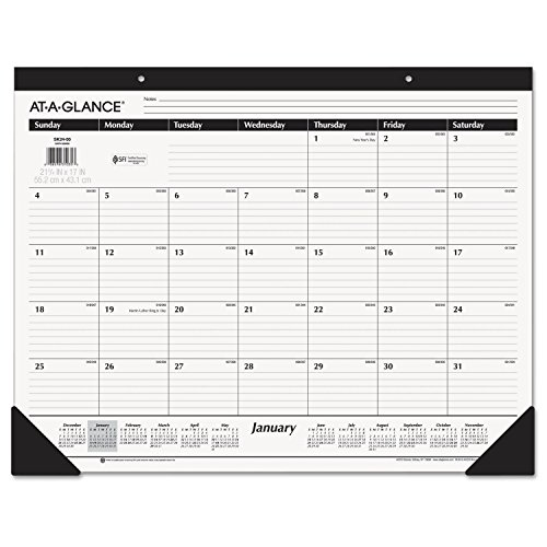 At A Glance 2019 Desk Calendar Desk Pad 21 3 4 X 17 Standard