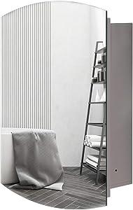 Movo Bathroom Wall Medicne Cabinet with Mirror 26 X 16 Inch Multipurpose Storage Organizer Space Saver Adjustable Shelf Kitchen Cupboard Recess Installation Only CA1626
