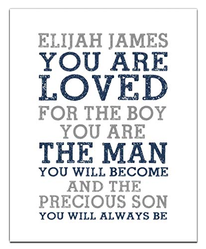 Precious Son Print | Boys Wall Art | Boy Name Decor | Baby Boy Gift | Personalized Baptism Gift | Christening Gift | Religious Gift | Christening Present | First Communion -