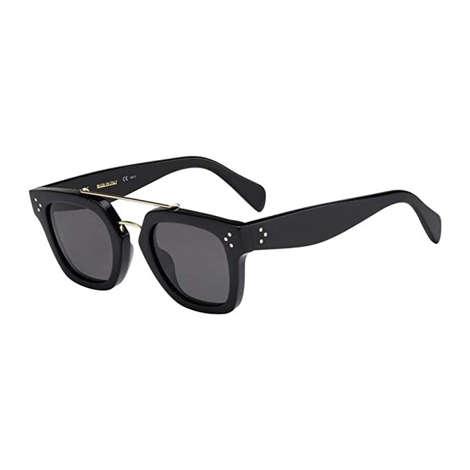 7bcc4f472a44 Celine CL41077-S-807-BN-47 CL 41077-S 807 BN Black Sunglasses  Celine   Amazon.co.uk  Clothing