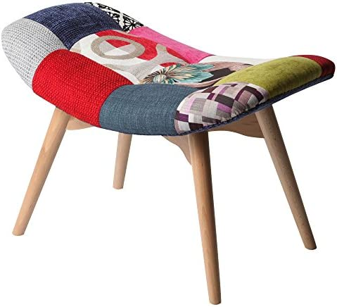 [スポンサー プロダクト]ぼん家具 パッチワーク スツール 椅子 腰掛け 腰かけ オットマン サイドチェア ガール