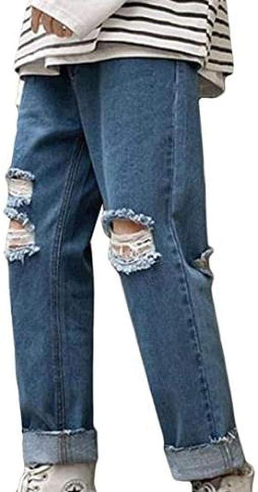 [ミートン] メンズ ストレッチパンツ 春夏 デニムパンツ メンズ オフィス デート ジーンズ 大きいサイズ 無地 ダメージ加工 九分着 着痩せ メンズ 春夏 ジーンズファッション