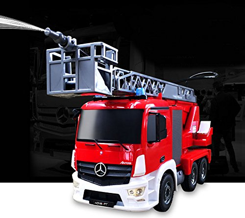 KONSEPT RC 1:20 Mercedes Benz Water Pump Spray Multi Funtion Large Fire Truck Construction Engine