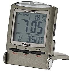 CASIO travel clock PQ-50J-8 display metallic gray Digital (Japan Import)