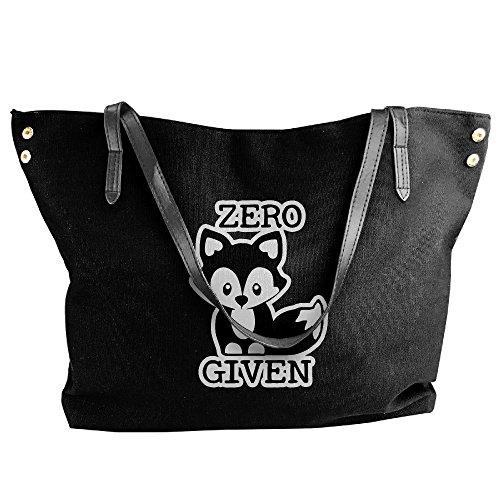 Tote Given Women's Black Shoulder Bag Handbag Zero Canvas Hand Fox Large RROqxAw0