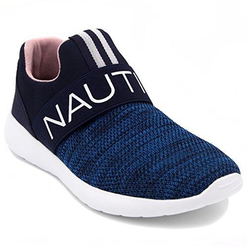 Nautica Vrouwen Mode Jogger Sneaker (kant-up / Slip-on) Marine Slip-on