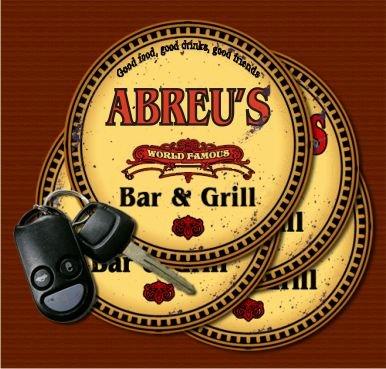 ABREU'S World Famous Bar & Grill Coasters - Set of - Wine Abreu