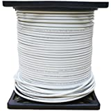 UL Listed RG6 18AWG Coaxial Cable, Quad Shielded, White, Spool, 1000 foot