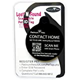 Platinum Pets Lost And Found Small Scannable Pet Id Recovery Tag In Midnight Black from Platinum Pets, Inc