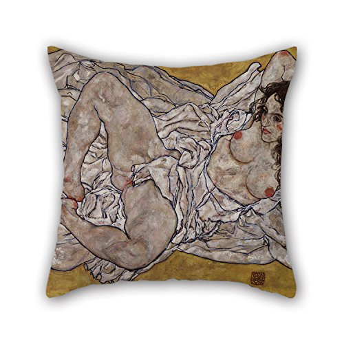 [Artistdecor The Oil Painting Egon Schiele - Reclining Woman Throw Pillow Case Of ,20 X 20 Inches / 50 By 50 Cm Decoration,gift For Lounge,valentine,birthday,floor,her,christmas (twin] (Horse For Sale Costume)