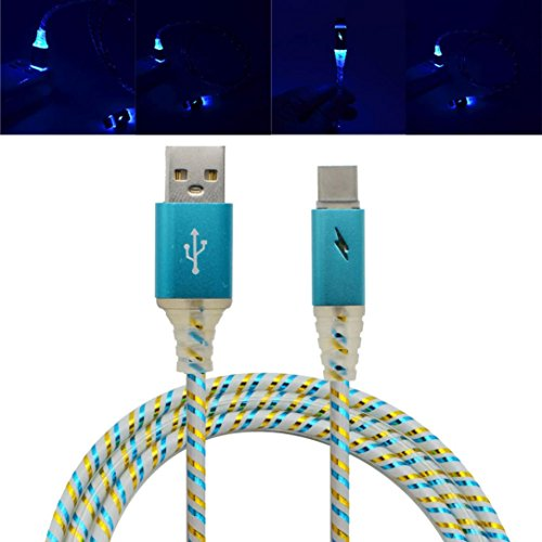 Mchoice LED Lights Type-C Cable USB 3.1 Sync Data Faster Charger Cable for Android - Tri Faster