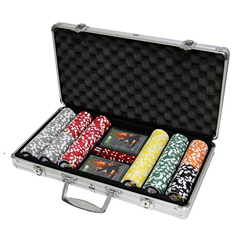 300 Pc Poker Chip Case - Grip 300 pc Outdoor Poker Chip Set with Waterproof Cards