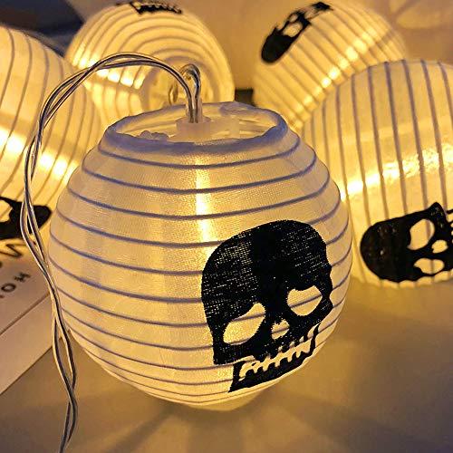 Diy For Halloween (Jolik Halloween String Lights DIY Polyester Halloween 10 LED Skull Lanterns for Halloween Party Decor, Halloween Decoration, Halloween)