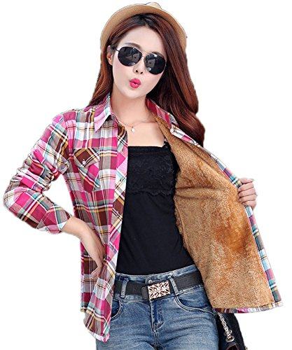 AvaCostume Womens Casual Fleece Winter