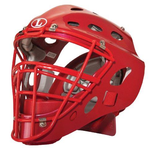 Louisville Slugger TPX Intermediate Catcher's Helmet, Scarlet,6 3/8-7 ()
