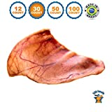 123 Treats Pig Ears for Dogs | Quality Pork Dog Chews by 100% Natural Pork Ears Full of Protein for Your Pet (Brazil, 30 Count)
