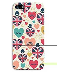 English Hearts Case for your iPhone 5/5S