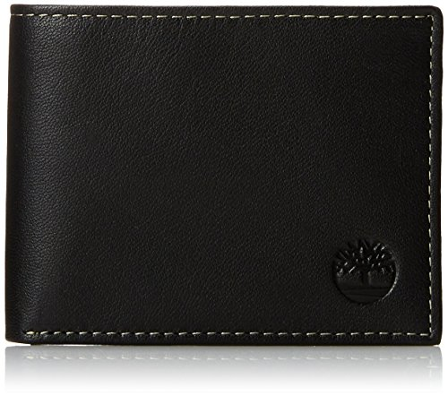 Black Wallet - Timberland Men's Blix Slimfold Leather Wallet