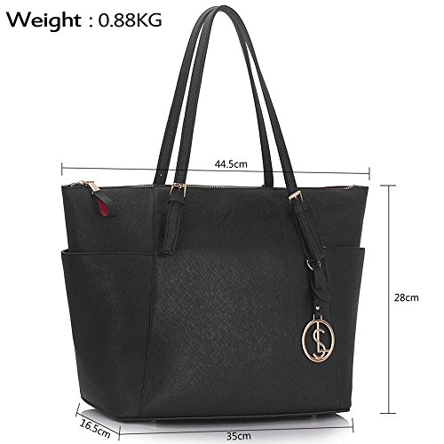 Designer A4 For 350 Bags Style Bag LeahWard Shoulder Clearance Celeb Fashion Black Ladies Tote Shopper Women Sale Handbag Ladies XgxTaOg