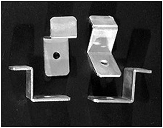 Supplies Canvas Offset Clips 1-inch 2-Hole Pk//100 United Mfrs
