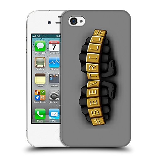 Official Been Trill Knuckles Gold Bling Blings Hard Back Case for Apple iPhone 4 / 4S