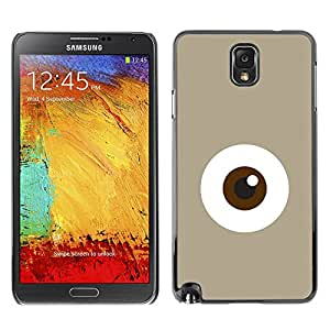 A-type Colorful Printed Hard Protective Back Case Cover Shell Skin for SAMSUNG Galaxy Note 3 III / N9000 / N9005 ( Eye Monster Cute Minimalist Beige )