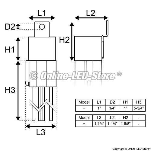 6 pack - ols 12v dc 40/30 amp 5-pin spdt automotive relay ... optronics 40 amp 4 pin relay wiring diagram