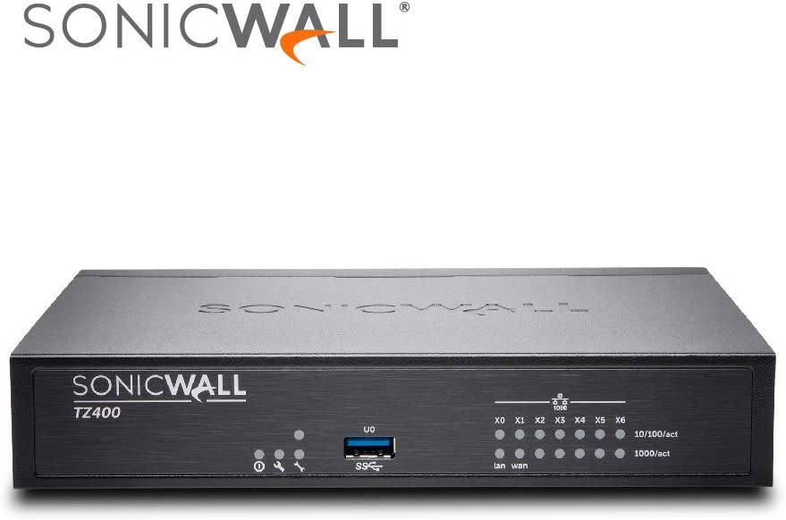 SonicWALL 01-SSC-1705 Tz400 - Advanced Edition - Security Appliance - with 1 Year Total Secure - 7 Ports - 10/100 MB LAN, Gige