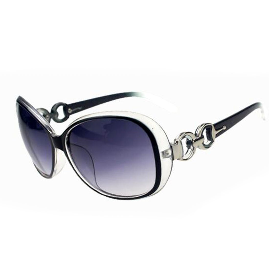 Women Shades Oversized Eyewear Classic Designer Sunglasses UV400-Black&Grey