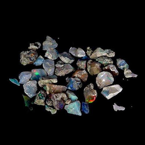 dadu_creation Natural Ethiopian Opal Paly Of Color Facet Rough Rainbow Specimen Lot 39.70Cts.