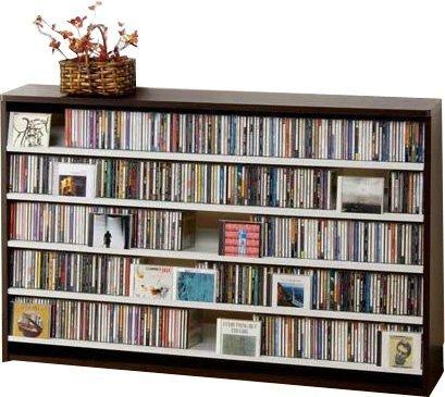 695枚収納 CD屋さんのCD/DVDラック 幅139.2cm インデックスプレート20枚付き (ダークブラウン D) B005HT6ANU ダークブラウン D ダークブラウン D