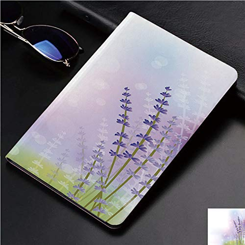 (Case for iPad 2 iPad 3 iPad 4 TPU Leather Rotating Smart Stand Tablet Case for iPad 2/3/4,Backdrop with Gentle Pastel Lavender Stems)
