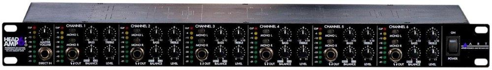 ART HeadAmp 6 Pro 6 Channel Headphone Amplifier - Rackmount HEADAMP6PRO