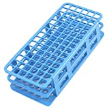 Lab Tool Blue Plastic 90 Position 12mm Hole Test Tube Stand Holder