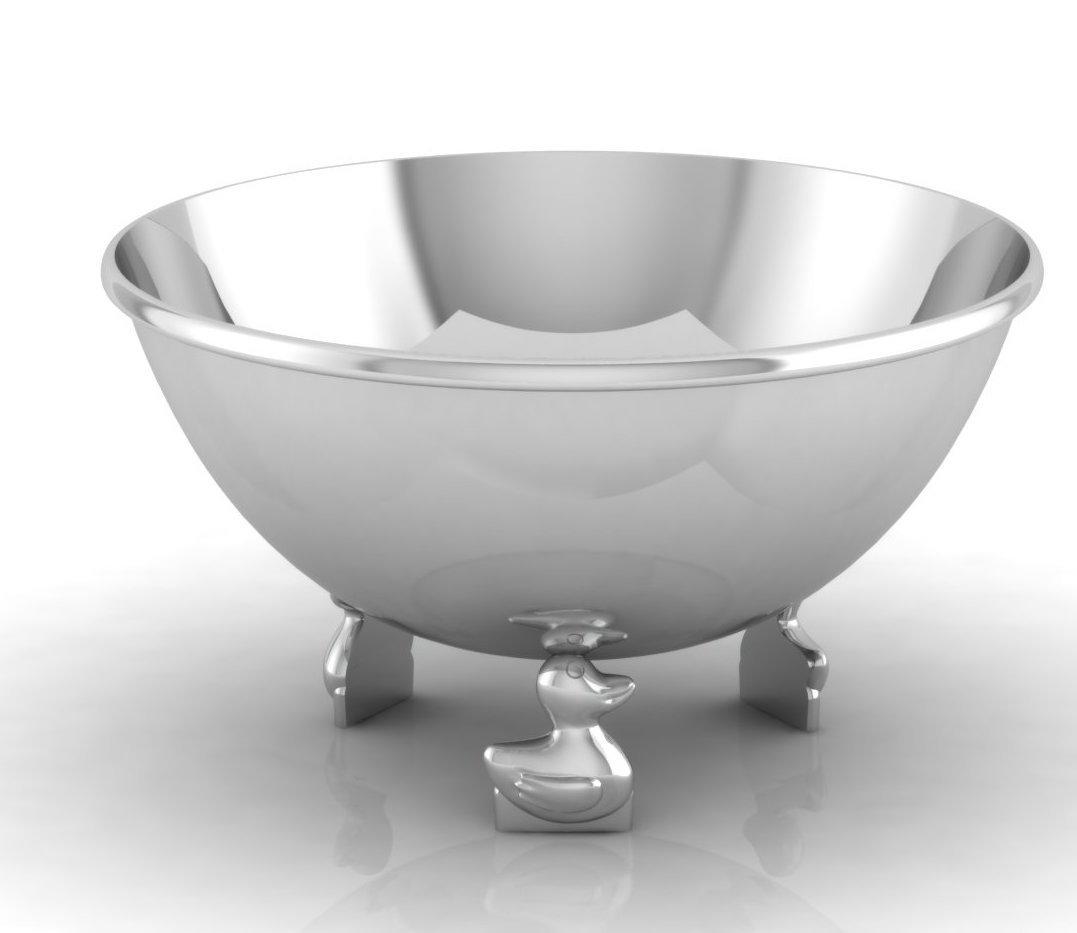 Krysaliis Sterling Silver Baby Bowl, Duck