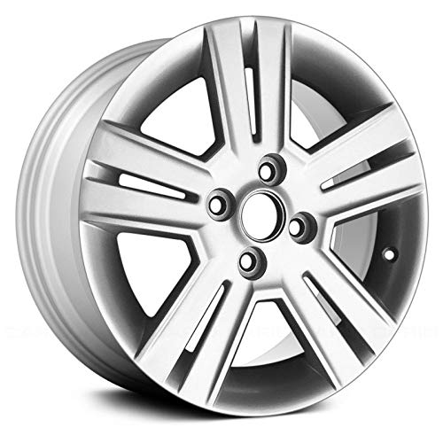 - Replacement 5 Double Spokes All Painted Bright Silver Metallic Factory Alloy Wheel Fits Chevy Spark