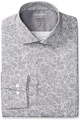 Calvin Klein Men's Dress Shirts Xtreme Slim Fit Print