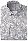 "Calvin Klein Men's Xtreme Slim Solid Dress Shirt, Smoke, 15.5"" Neck 32""-33"" Sleeve"