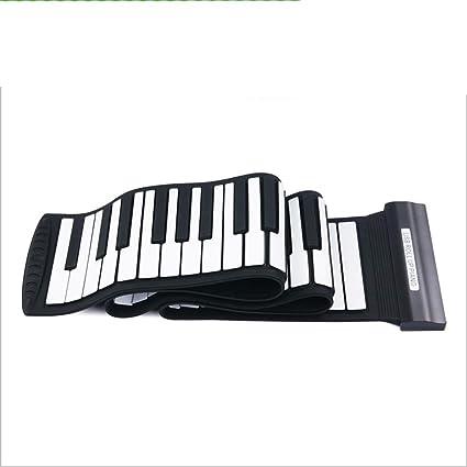 Mano Rodillo Piano 88 Clave Engrosamiento Profesional Versión Plegable Teclado Portátil Adulto Práctica Teclado MIDI Con